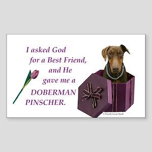 Doberman Rectangle Sticker