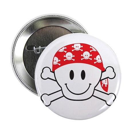 """Happy Skull 2.25"""" Button"""