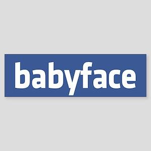 babyface funny parody Sticker (Bumper)