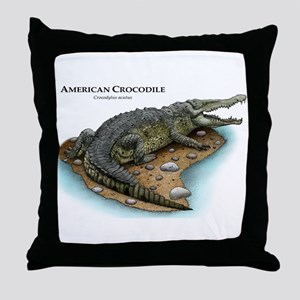 American Crocodile Throw Pillow