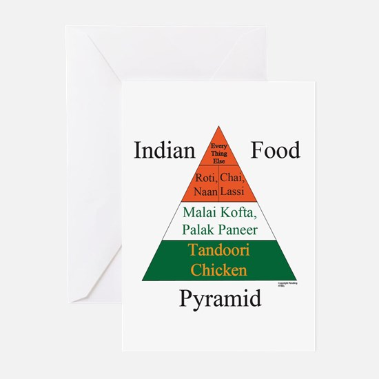 Indian Food Pyramid Greeting Cards (Pk of 10)