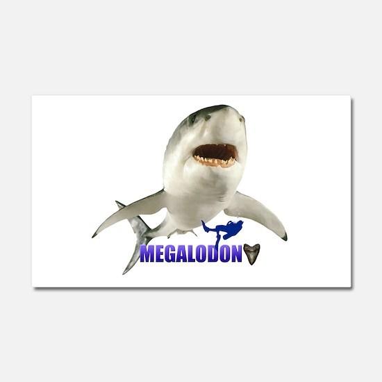 Megalodon Car Magnet 20 x 12
