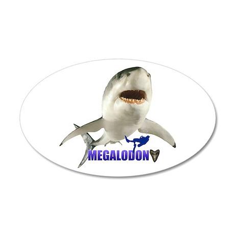 Megalodon 22x14 Oval Wall Peel