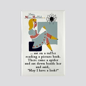 Little Miss Muffet Rectangle Magnet