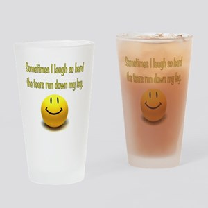 Laugh Hard Drinking Glass