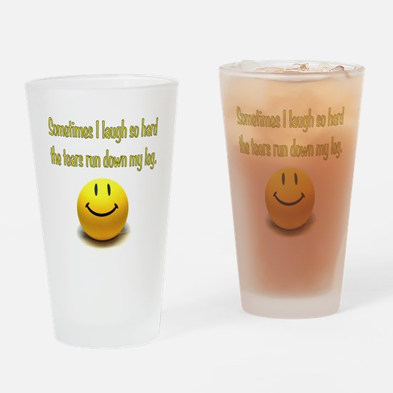 Laugh Hard Drinking Glass