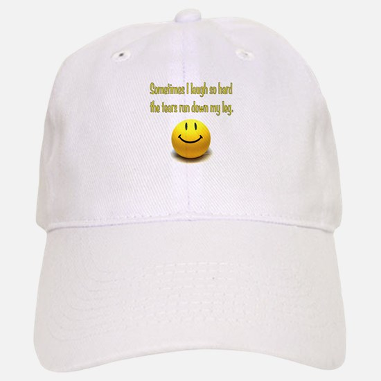Laugh Hard Baseball Baseball Cap