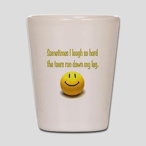 Laugh Hard Shot Glass