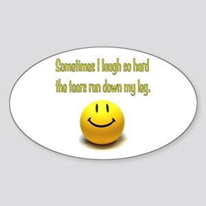 Laugh Hard Sticker (Oval)