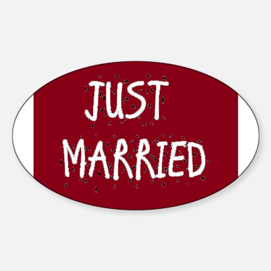 Cute Just married Sticker (Oval)
