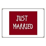 Just married Banners