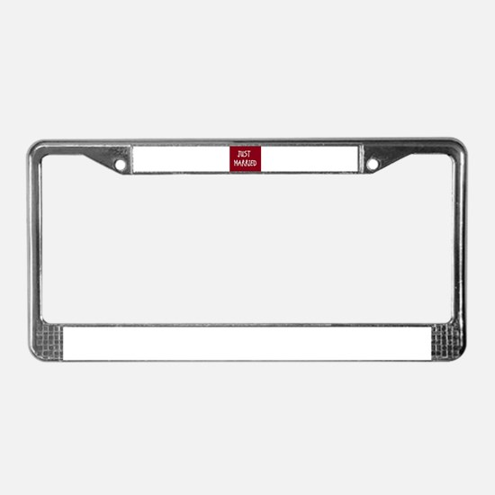 Cute Married License Plate Frame
