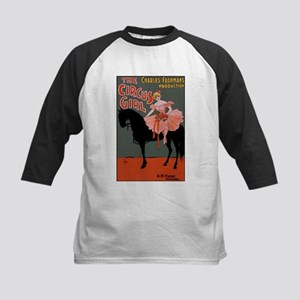 Circus Girl Kids Baseball Jersey