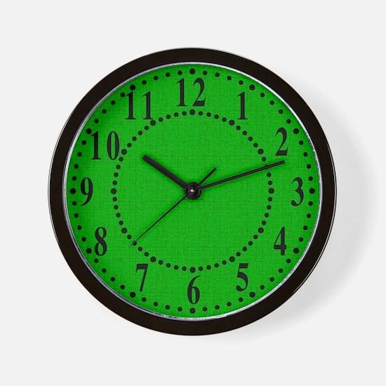 Green Linen Look Wall Clock