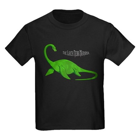 Loch Ness Monster Kids Dark T-Shirt
