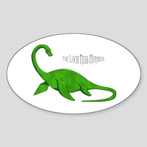 Loch Ness Monster Sticker (Oval)