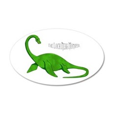 Loch Ness Monster 22x14 Oval Wall Peel