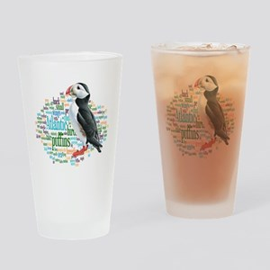 Puffins Drinking Glass