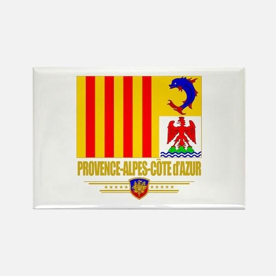 Provence-Alpes-Cote d'Azur Rectangle Magnet (10 pa