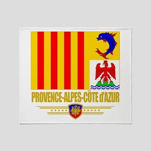 Provence-Alpes-Cote d'Azur Throw Blanket