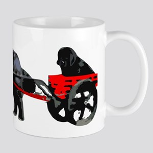 Newf Puppy in Draft Cart Mug