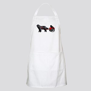 Newf Puppy in Draft Cart Apron