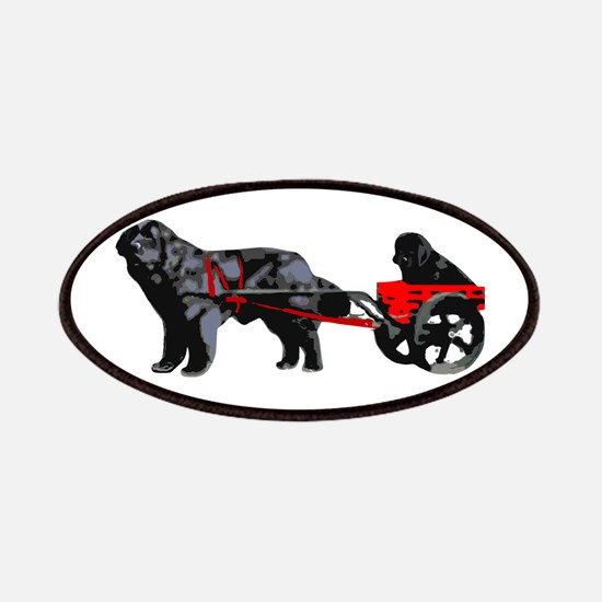 Newf Puppy in Draft Cart Patches