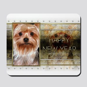 New Year - Golden Elegance - Yorkie Mousepad