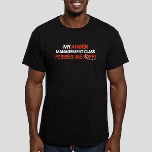Anger Management Men's Fitted T-Shirt (dark)