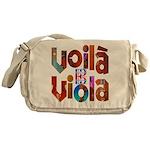"""""""Voilà Viola"""" Messenger Bag"""