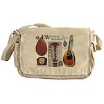 Antique Mandolute Messenger Bag