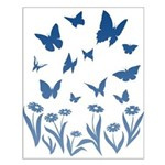 Blue Butterfly Art Small Poster