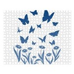 Blue Butterfly Art Large Puzzle