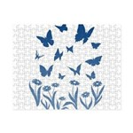 Blue Butterfly Art Small Puzzle