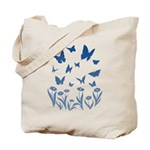 Blue Butterfly Art Tote Bag