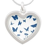 Blue Butterfly Art Necklaces