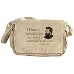 Bizet Music Quote Messenger Bag