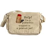 Pistachio in Peanut Jar Messenger Bag