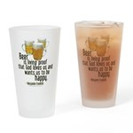 Beer is Proof Franklin Drinking Glass