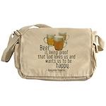 Beer is Proof Franklin Messenger Bag
