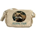 Sushi Fan Bear Messenger Bag