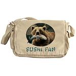 Sushi Fan Bear Messenger Bag