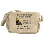 Cooking with Wine Messenger Bag