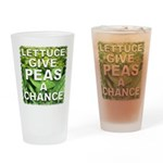 """Give Peas a Chance"" Drinking Glass"
