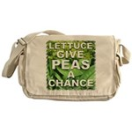 """Give Peas a Chance"" Messenger Bag"