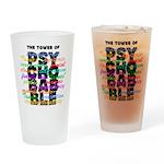 Psychobabble Drinking Glass