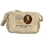 """Ben Franklin """"Fools"""" Quote Messenger Bag"""