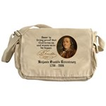 Benjamin Franklin Beer Quote Messenger Bag