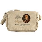 Ben Franklin on Riches Messenger Bag
