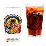 Horn of Plenty Drinking Glass